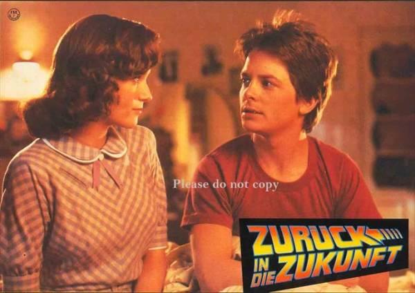 1985年 バック・トゥ・ザ・フューチャー ドイツ語 ロビーカード