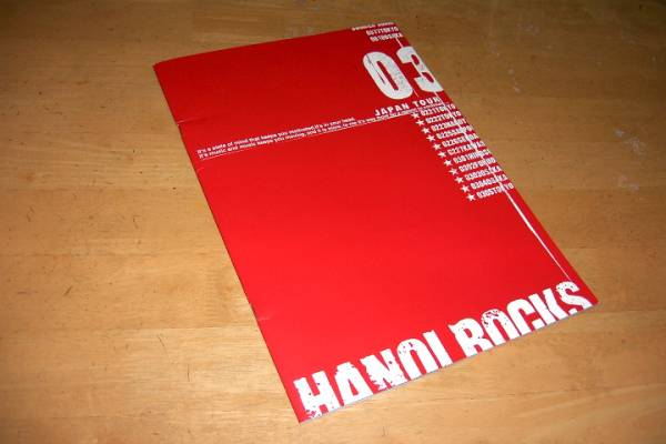 HANOI ROCKS JAPAN TOUR 2003 パンフ