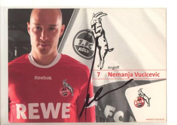 A852 クラブ発行直筆サイン ネマニャ・ヴチチェヴィッチ 1FCケルン 08/09 FC東京 ビーチサッカー セルビア代表