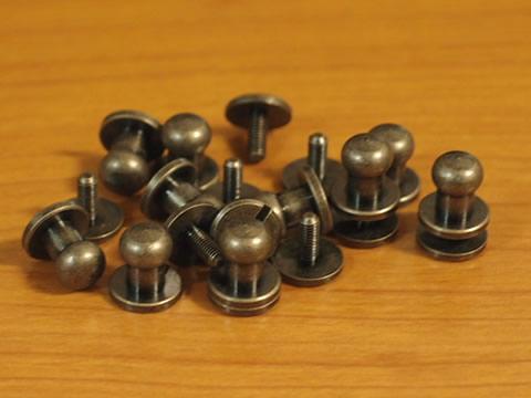 ギボシ(ネジ式)大 アンティークゴールド 10個セット 10mm 日本製_画像1