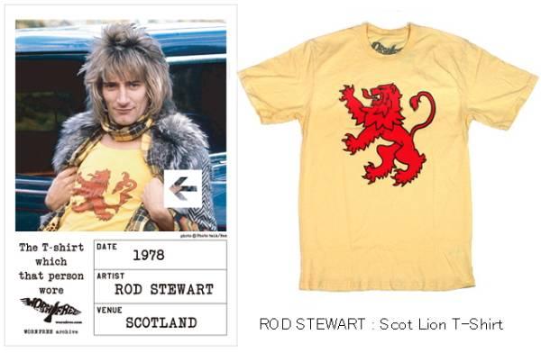 ■★ロッド・スチュワート★■Scot Lion T-Shirt/wornfree