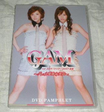 即決 DVD GAM 1stコンサート DVDパンフレット 松浦亜弥/藤本美貴