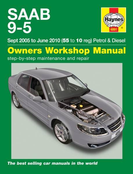 Saab(サーブ) 9-5 2005-10年 英語版 整備解説書_表紙、本文は英語表記