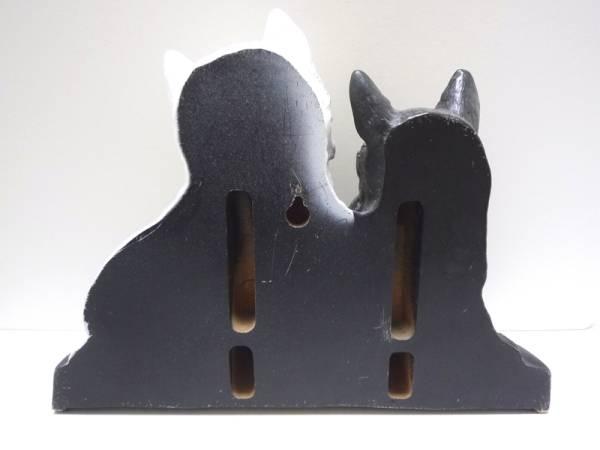 BLACK&WHITEディスプレイ白黒テリア 犬 スコッチ ウイスキーバー_画像2