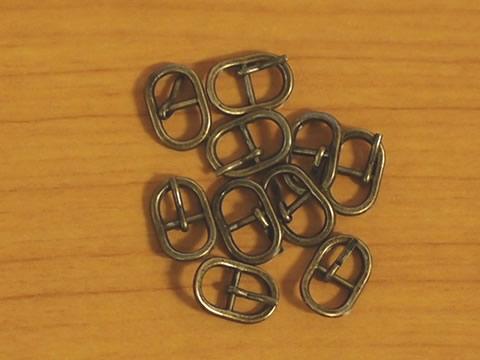 ミニバックル(ミニ美錠) 5mm Aタイプ アンティーク 10個セット_画像2