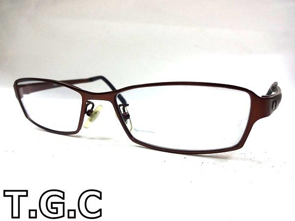 3WJ309B■美品■ T.G.C メタルブラウン メガネフレーム BE1080