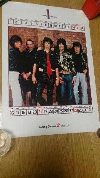ローリングストーンズ非売品カレンダーポスター1979 1月 ライブグッズの画像