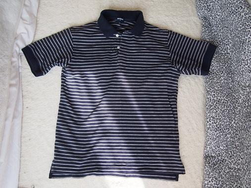 ポロシャツ◆紺×白のボーダー
