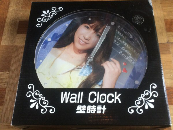 河西智美 壁時計 Wall Clock 未開封品 非売品