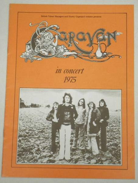 BOOK/CARAVAN/ IN CONCERT 1975, UK ツアーパンフ (i174)