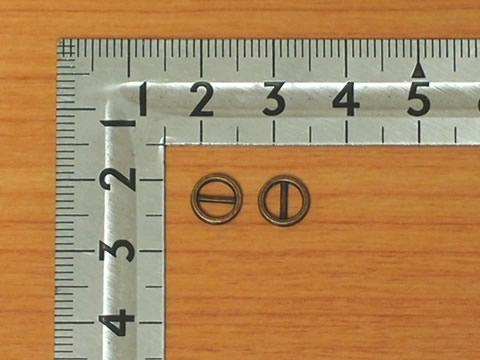 ミニ丸コキカン 4mm アンティークゴールド 50個セットAG 金具屋_画像1