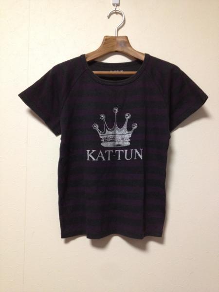[即決古着]KAT-TUN/LIVE TOUR 2010/ライブツアーTシャツ/ボーダー/プリント