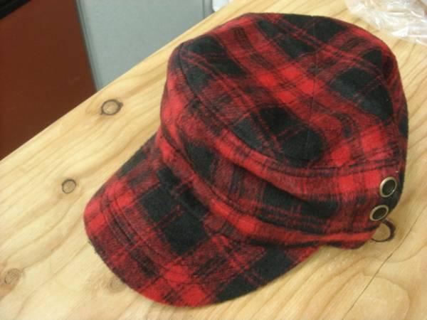 1011新品ウールWOOLブロック チェックWORKワークキャップCAP帽子レイルロード ドゴール_画像1