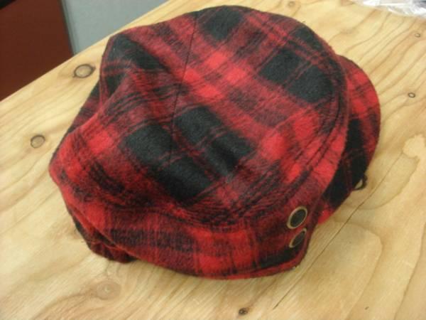 1011新品ウールWOOLブロック チェックWORKワークキャップCAP帽子レイルロード ドゴール_画像3