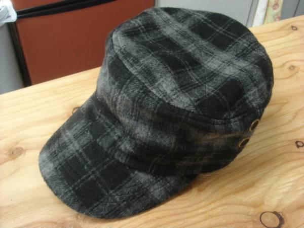 1011新品ウールWOOLブロック チェックWORKワークキャップ帽子レイルロードCAPドゴール_画像1