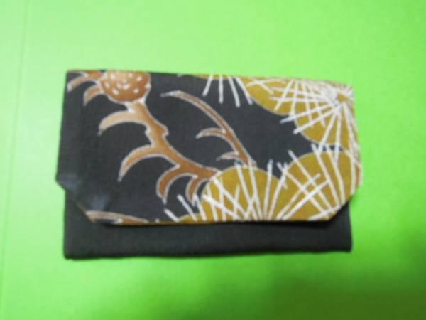 激安!黒と草緑色系松柄・絹地・名刺入れカードケース♪_画像3