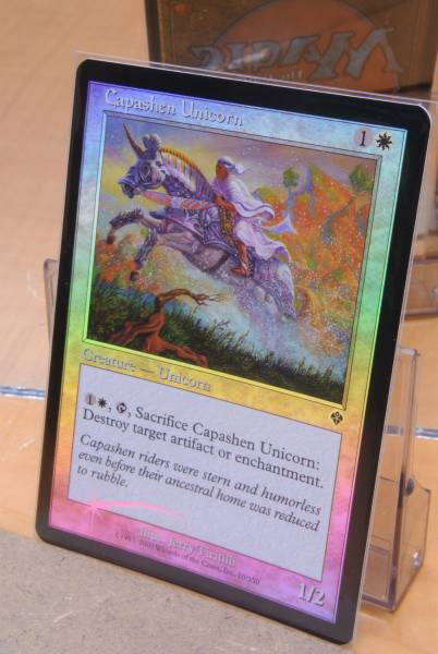 MTG foil Capashen Unicorn