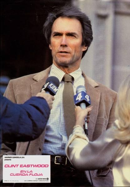 1984年映画 タイトロープ クリント・イーストウッドロビーカード