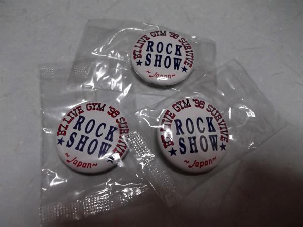 ◇B'z★ビーズ★1998 ROCK SHOW【 缶バッジ3個SET 】未開封新品