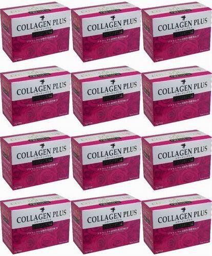 コラーゲンプラス PREMIUM 3g×25袋 12箱(300袋)!コーラーゲン、プラセンタ、ヒアルロン酸、乳酸菌が同時に摂れます。_賞味期限:2019年2月 12箱(300袋)