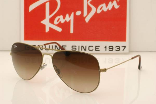 23a5f0b3ecf new goods   regular imported goods!Ray-Ban RayBan RB3513 149 13 AVIATOR  aviator Flat metal mat gold Brown glatiento