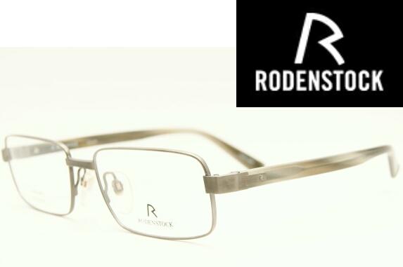 税込新品 定価50,600円 ローデンストック 高級眼鏡フレーム R4592C グレー RODENSTOCK チタンメガネ 日本製 金属フレーム 鯖江製 フルリム