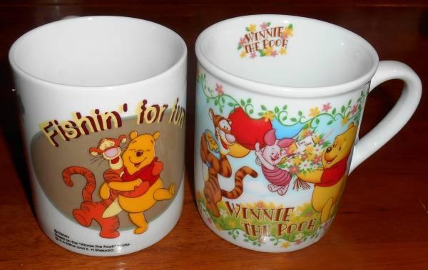 ★くまのプーさん 大 皿 1枚 & マグカップ 2個 未使用 ディズニーグッズの画像