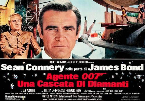 1971年 007 ダイヤモンドは永遠に イタリア ロビーカード 2枚