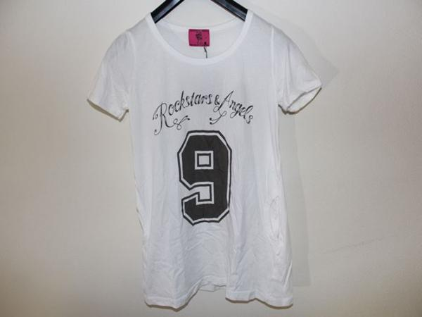 ロックスターズエンジェルス ROCKSTARS&ANGELS レディース半袖Tシャツ ホワイト Sサイズ 新品 白_画像1