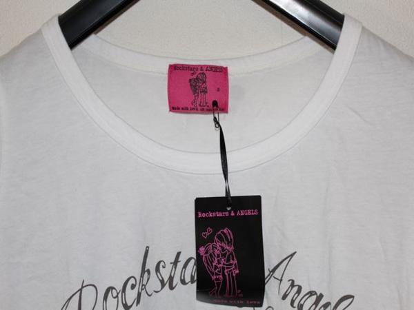 ロックスターズエンジェルス ROCKSTARS&ANGELS レディース半袖Tシャツ ホワイト Sサイズ 新品 白_画像2