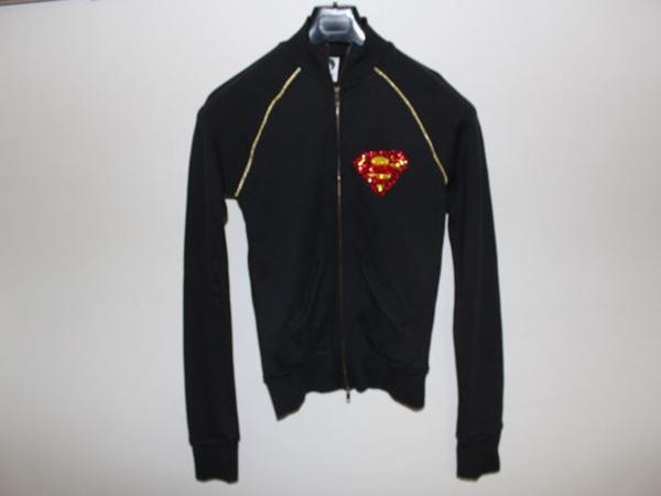 サディスティックアクション SADISTIC ACTION レディーススーパーマントラックジャケット ブラックxゴールド 新品_画像1