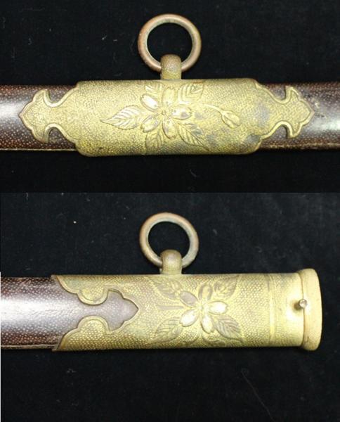 日本海軍 お金持ちの鮫革鞘指揮刀サーベル 1105M7r_画像4