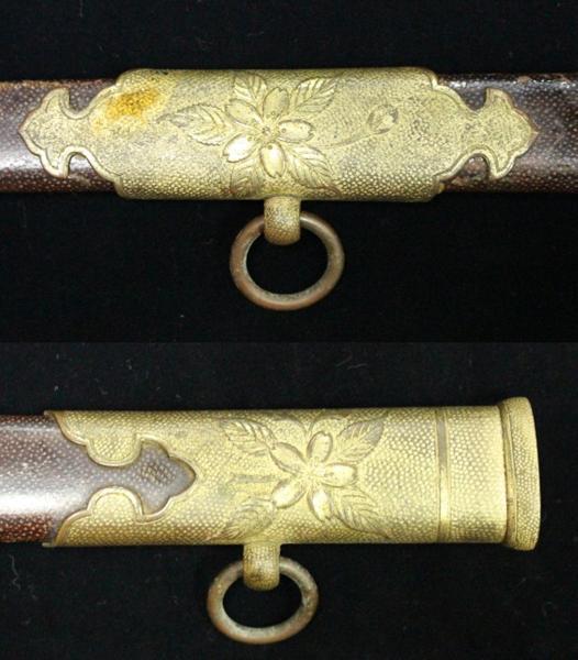 日本海軍 お金持ちの鮫革鞘指揮刀サーベル 1105M7r_画像5