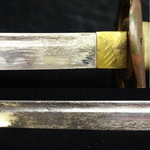 日本海軍 お金持ちの鮫革鞘指揮刀サーベル 1105M7r_画像9