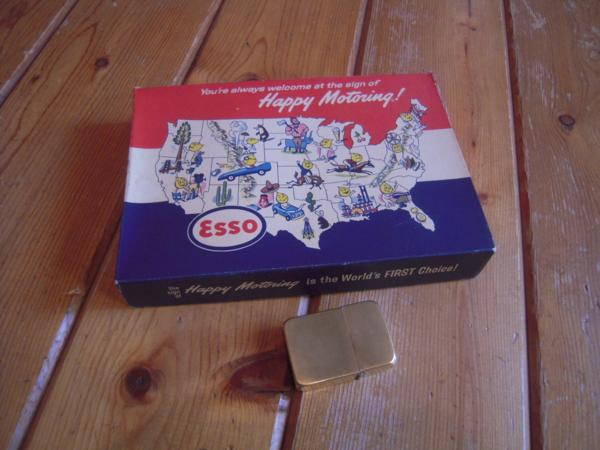 ★レア★OLD★USA★エッソ★ESSO★HAPPY MOTORRING★BOX★オイル缶入★