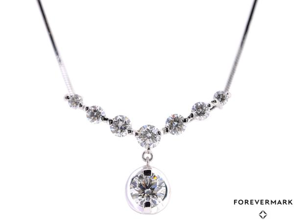 BJ2731【BSJBJ】Forevermark フォーエバーマーク Pt900 ダイヤモンド0.30ct ネックレス プラチナ 鑑定書_画像1