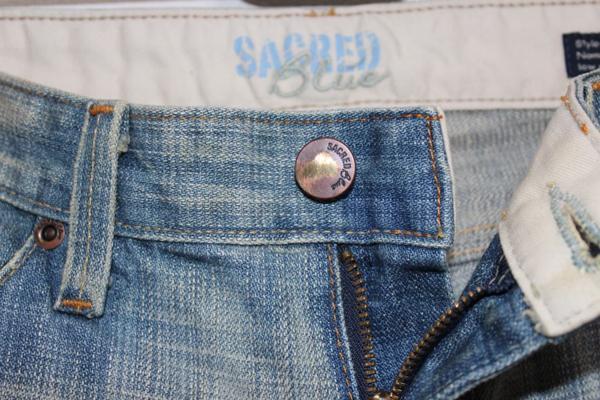 セイクレッドブルー SACRED BLUE レディースデニムパンツ ジーンズ 24インチ NO6 新品_画像3