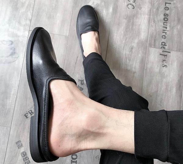 今期新品セレブレザーシューズ本革牛皮サンダルブーツ黒メンズモードオシャレスーツ_画像3