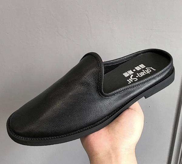今期新品セレブレザーシューズ本革牛皮サンダルブーツ黒メンズモードオシャレスーツ_画像5