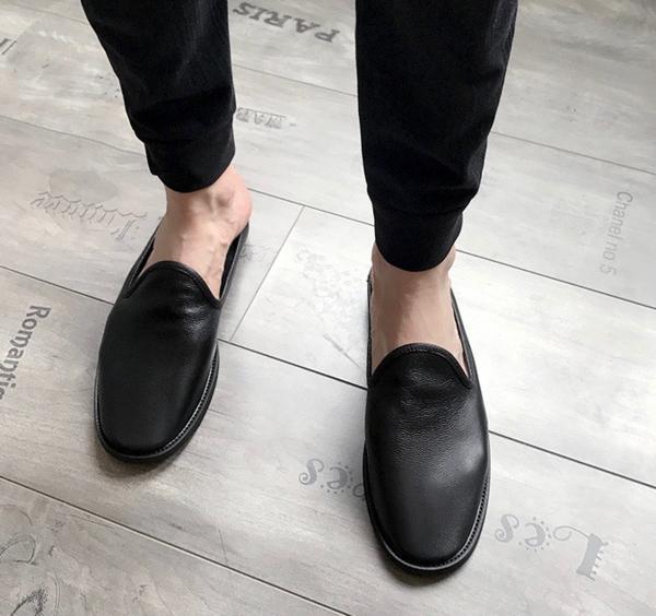 今期新品セレブレザーシューズ本革牛皮サンダルブーツ黒メンズモードオシャレスーツ_画像2