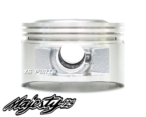 [高品質]マジェスティ125[キャブ車/Fi車共にOK] 61mmボアアップピストン【ピストンリング+ピストンピン+サークリップ付】_画像2