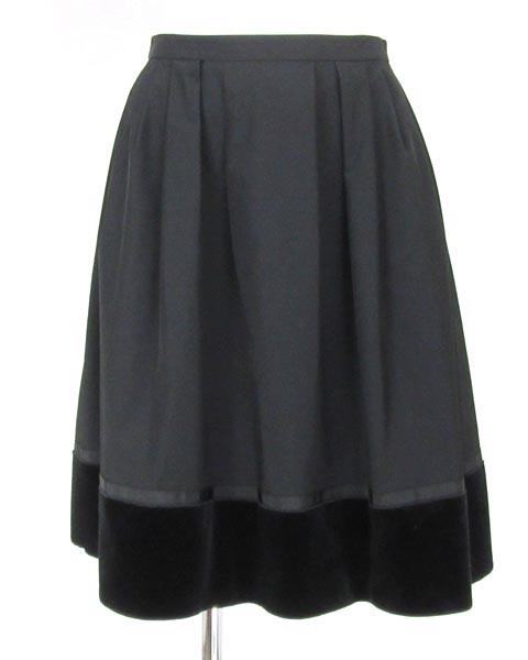 フォクシーニューヨーク FOXEY 黒 フレアー スカート 38_画像1