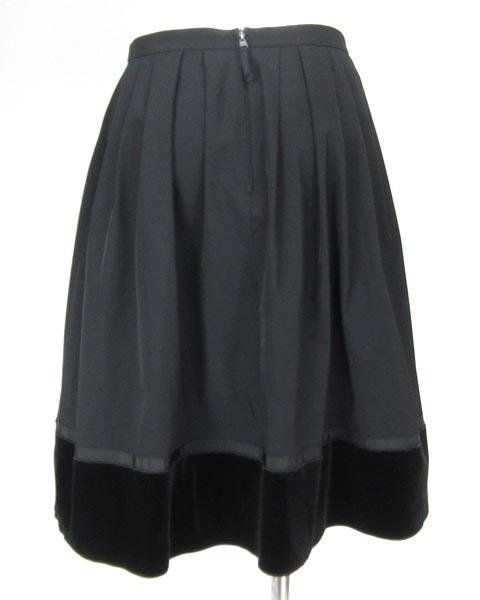 フォクシーニューヨーク FOXEY 黒 フレアー スカート 38_画像3