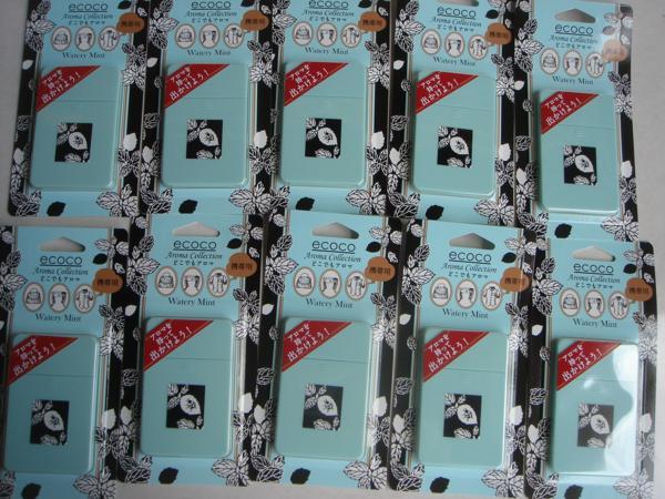 ecoco どこでもアロマ◆ウォタリーミントの香◆定価540円×10個◆新品_画像2