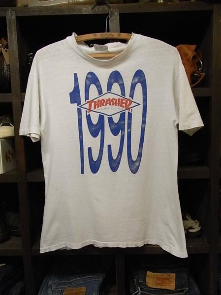 90'S MADE IN USA THRASHER MAGAZINE 半袖 Tシャツ SIZE M スラッシャー スケート_画像1
