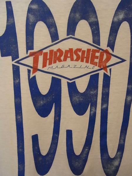 90'S MADE IN USA THRASHER MAGAZINE 半袖 Tシャツ SIZE M スラッシャー スケート_画像7