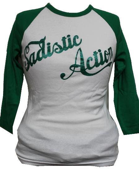 サディスティックアクション Sadistic Action レディース7分袖Tシャツ ラグラン 新品_画像1