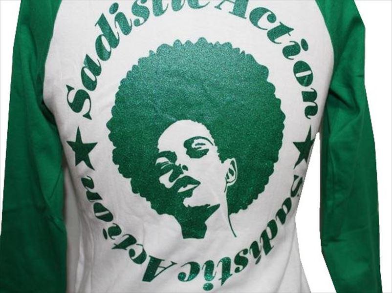 サディスティックアクション Sadistic Action レディース7分袖Tシャツ ラグラン 新品_画像3