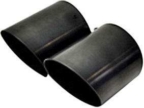 【M's】ミニ R55 R56/KaizerTail マフラーカッター(ブラック)_画像1