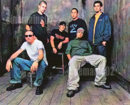 即決!リンキン・パーク Linkin Park、部屋の中の6人写真